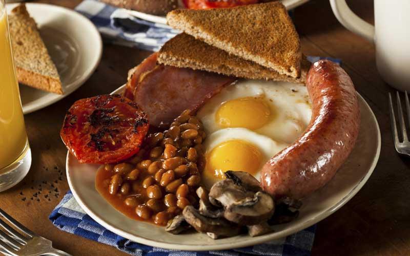 Desayunos originales, desayuno inglés