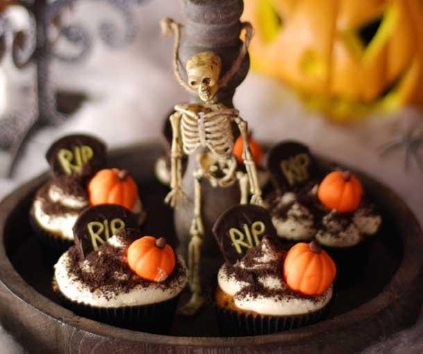 como hacer cupcakes para Halloween