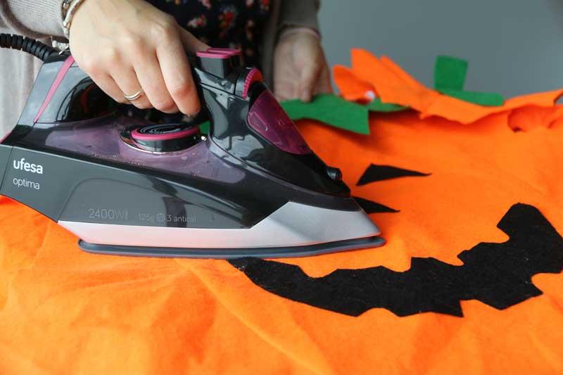 Planchar disfraces de Halloween