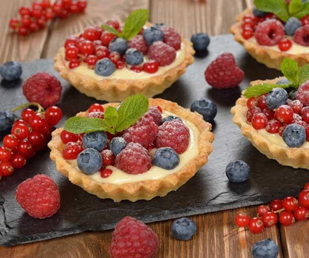 Cómo hacer tartaleta de frutos rojos.