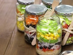 ensaladas en vaso