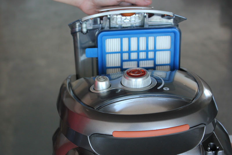 limpiar filtro aspiradora sin bolsa